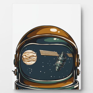 nasa satellite and the moon plaque