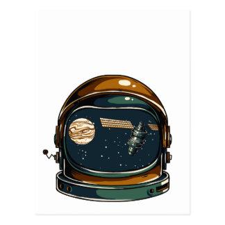 nasa satellite and the moon postcard