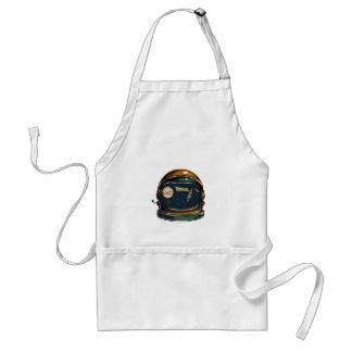 nasa satellite and the moon standard apron