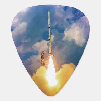 NASA Scout Rocket Launch Liftoff Guitar Pick