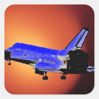 nasa shuttle square sticker