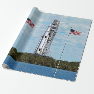 NASA SLS Space Launch System Rocket Launchpad Wrapping Paper