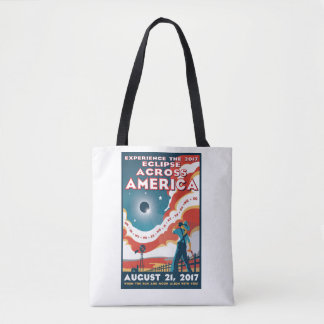 NASA Solar Eclipse America Tote Bag