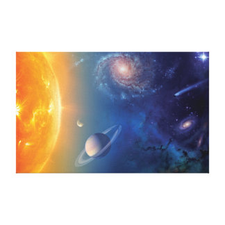 NASA Solar System Outer Space Collage Canvas Print
