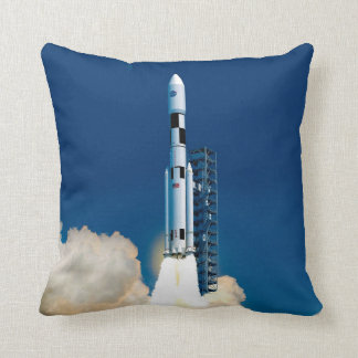 NASA Space Launch System Throw Pillow