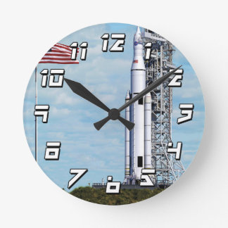 NASA Space Launch System Wallclocks