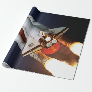 NASA Space Shuttle Atlantis Launch STS-45 Wrapping Paper