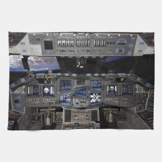 NASA Space Shuttle Cockpit Earth Orbit Window View Kitchen Towel