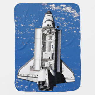 NASA Space Shuttle Discovery Earth Orbit Baby Blanket