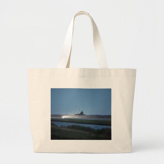 NASA / Space Shuttle Discovery landing - STS 116 Large Tote Bag