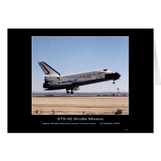 NASA Space Shuttle Discovery Landing-STS-92 Shuttl Card