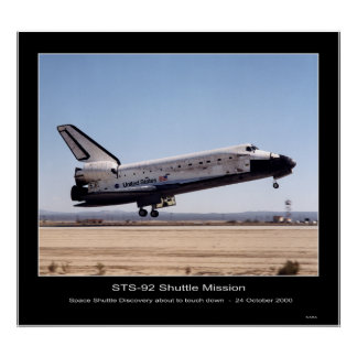 NASA Space Shuttle Discovery Poster