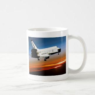 NASA SPACE SHUTTLE FLYING INTO COCOA BEACH CLASSIC WHITE COFFEE MUG