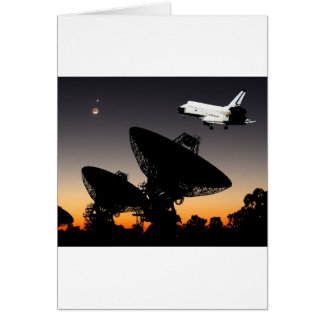 NASA SPACE SHUTTLE FLYING OVER AUSTRALIA GREETING CARD