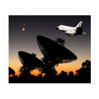 NASA SPACE SHUTTLE FLYING OVER AUSTRALIA POSTCARD
