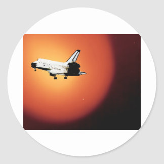Nasa Space Shuttle Sun Round Sticker