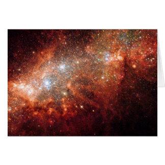 NASA - Supernova Bonanza in Nearby Galaxy NGC1569 Card