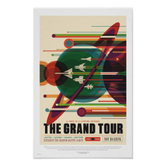 NASA - The Grand Tour - Retro Travel Poster