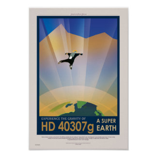 NASA Travel Poster - Super Earth