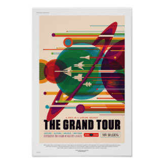 NASA Travel Poster - The Grand Tour