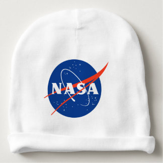 NASA with an astronount holding a guitar Baby Beanie