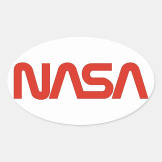 NASA Worm Logo Oval Sticker