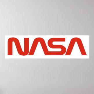 NASA Worm (Snake) Logo Poster