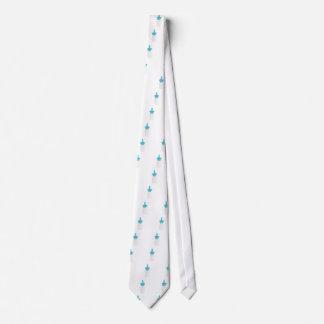 Nasal spray on white tie