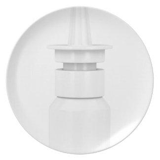 Nasal spray plate
