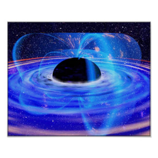Nasa's Blue Black Hole Poster