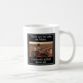 NASA's Curiosity Rover & No Cats On Mars Coffee Mugs