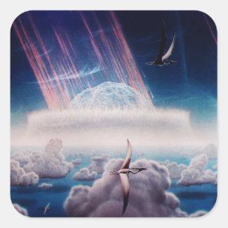 NASAs Dinosaur end Square Sticker