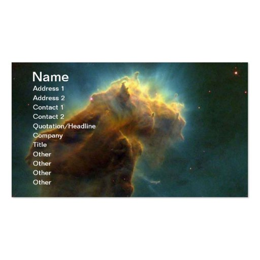 NASAs Eagle Nebula Business Card Templates