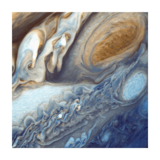 NASAs Jupiter Swirls Canvas Print
