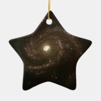 NASAs Messier 100 galaxy Ceramic Ornament