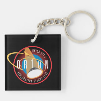 NASA's Orion EFT-1 Flight Official Mission Patch Double-Sided Square Acrylic Keychain