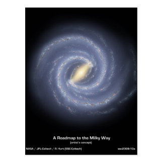 NASA's Road map to the Milky Way Postcard