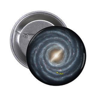 NASAs Sun in the Milky way 2 Inch Round Button