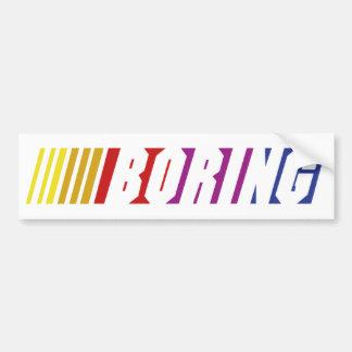 Nascar Boring Bumper Sticker