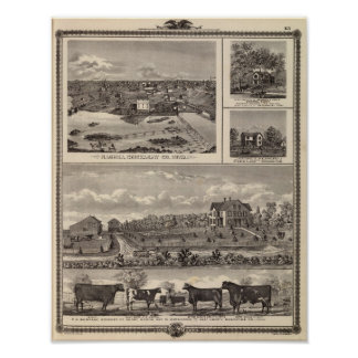Nashua farm and residence poster