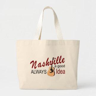 Nashville Always Good Idea Jumbo Tote Bag