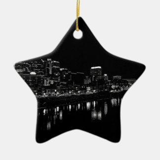 Nashville At Night Ceramic Star Ornament