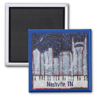 Nashville at night magnet