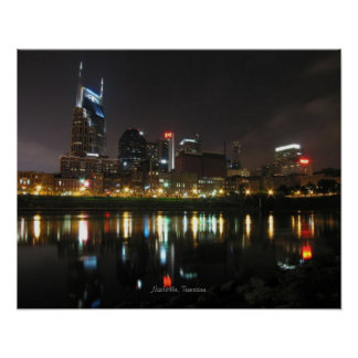 Nashville at Night Poster
