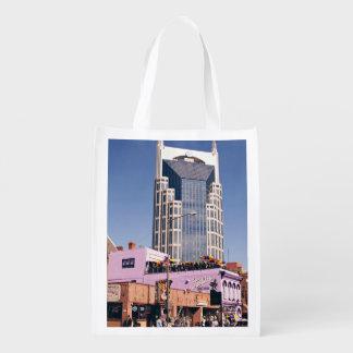 Nashville Batman Iconic Building Reusable Grocery Bag