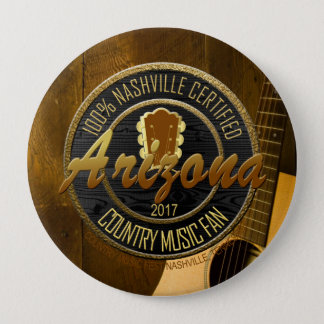 Nashville Certified AZ Country Music Fan 4 Inch Round Button