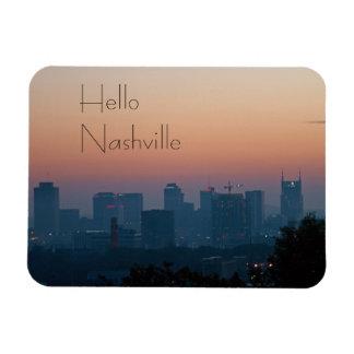 Nashville City Sunrise Rectangular Photo Magnet