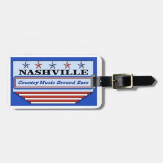 Nashville Country Music Ground Zero Luggage Tag