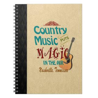 Nashville Country Music Magic Photo Notebook