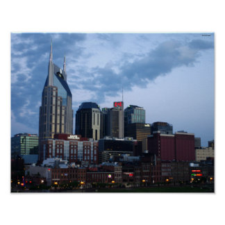 Nashville Downtown Skyline Poster